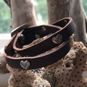 American Eagle leather wrap bracelet
